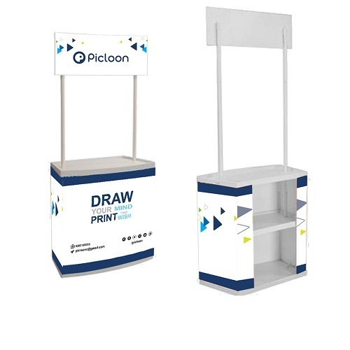 "<p align=""left""><strong>Promo tables are robust and can fit in a person</strong>. As these are still limited in use, therefore they do have new appeal which catch audience attention.<br /><br />These are portable, easy to carry & assemble. It <u>comes with black carry case</u>. They are made of either composite ABS body, plastic body or thick MDF board. These are weather resistant & can withstand strong winds. Made of professional graded material which are industry level tested and are reusable which change in display banner.</p>"