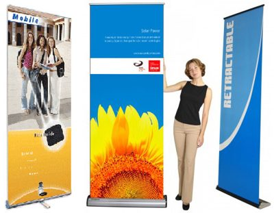 <p>A standee is a large self-standing display promoting a  product, Brand, movie or event. We offer these high quality banner stands in various dimensions like 5x2ft 6x2.5ft and 6x3 ft.</p>